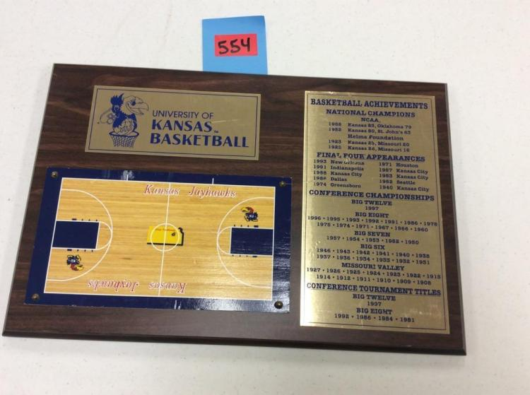 University Of Kansas Basketball Achievements Plaque 18X12