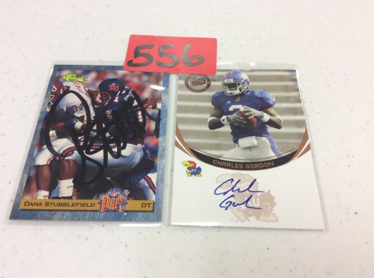 (2) KU Football Cards - Gordon & Stubblefield