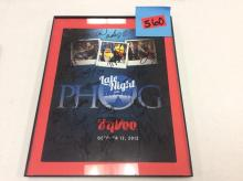 Framed Autographed Poster - Late night in the Phog October 12, 2012