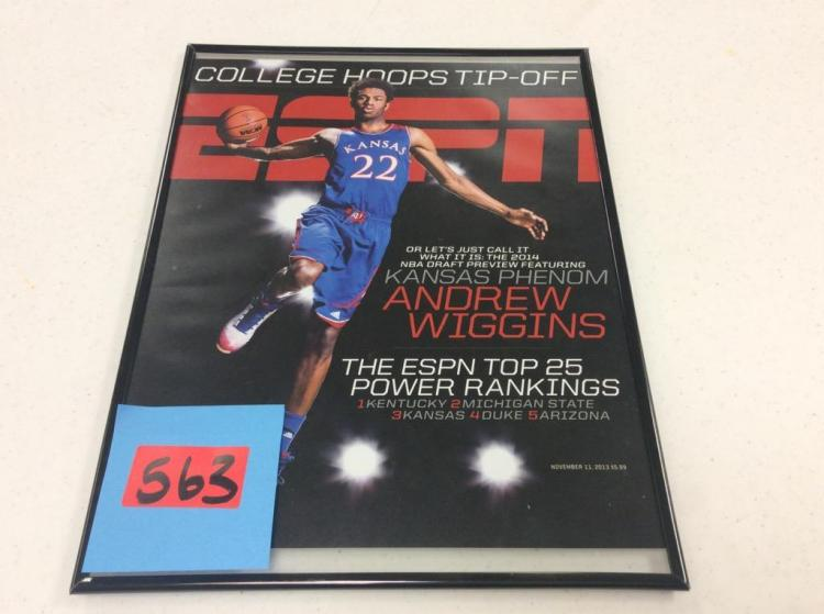 Framed ESPN College Hoops Tip-Off Featuring Andrew Wiggins -November 11, 2013