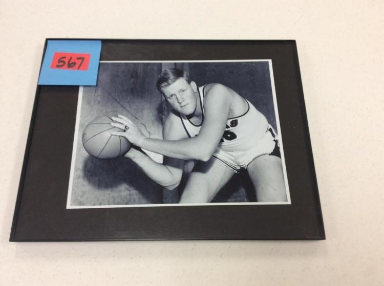 14x11 Framed picture of KU Basketball Player
