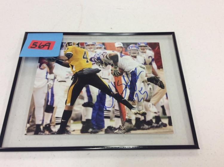 Framed Picture of KU Football Player #25 - Darrell Stuckey Signed