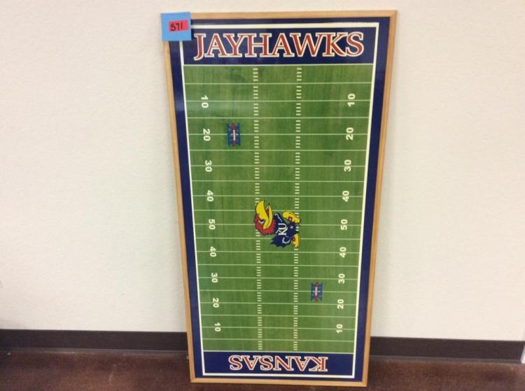 48 1/2 X 24 3/4 Hanging KU Football Field Replica