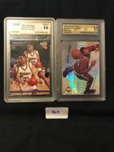 2 graded Marcus Camby rc cards