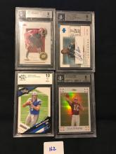 4 Graded Football cards
