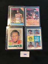 Lot of 4 Vintage Topps Basketball Cards