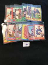 1963 Topps Football Lot of 13 Cards