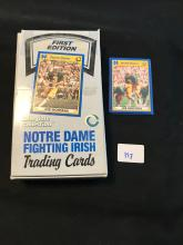 Notre Dame Trading Card box with 30 unopened packs