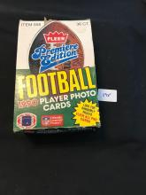1990 Fleer Football Unopened Wax Box with 35 Unopened Packs