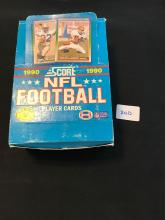 1990 Score Football Wax Box with 35 unopened packs