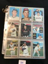 1970 Topps lot of 108 different cards