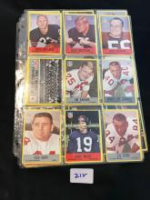 1967 Philadelphia Football lot of 24 cards