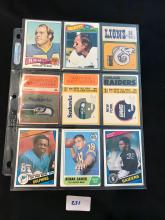 Great mix of 1950â??s 60â??s 70â??s 80â??s football cards 18 total
