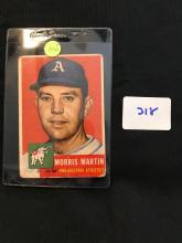 1953 Topps 227 Morris Martin High Number