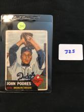 1953 Topps 263 John Podres High Number SP RC