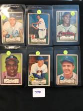 1952 Topps Lot 6 Cards 21,23,24,27,32,34