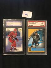 Lot of 2 Graded Hockey Cards