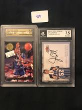 Lot of 2 Graded Basketball Cards