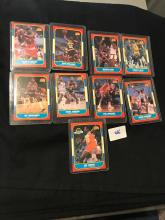 1986 Fleer lot of 9 cards