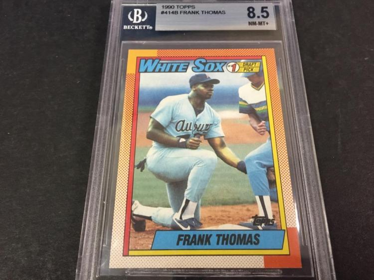 1990 Topps Graded Frank Thomas Rookie Mlb Card