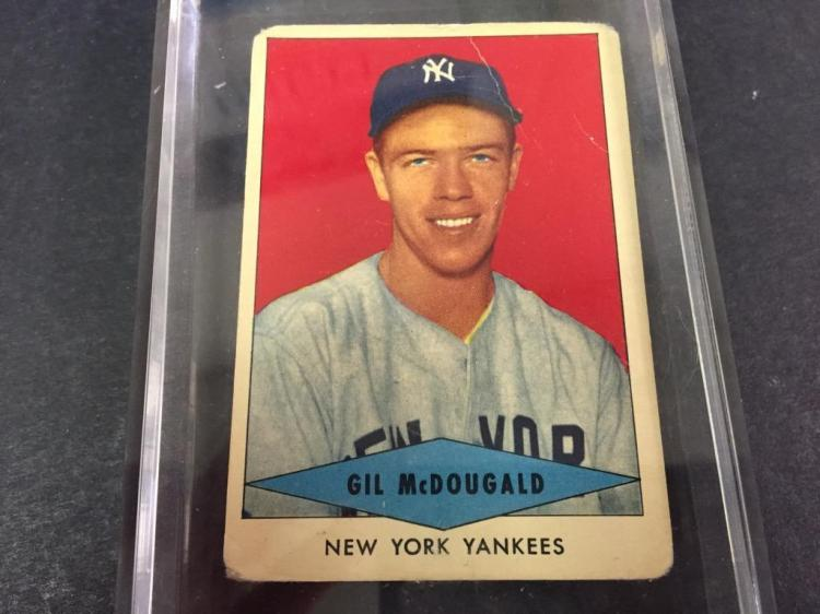 Red Heart Dog Food 1953 Gil Mcdougald Baseball Card