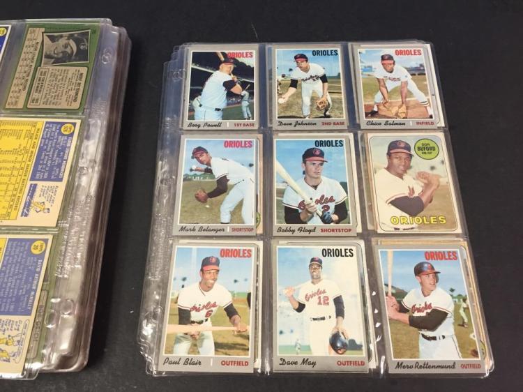1950s 80s Topps Baltimore Orioles Baseball Card Collection