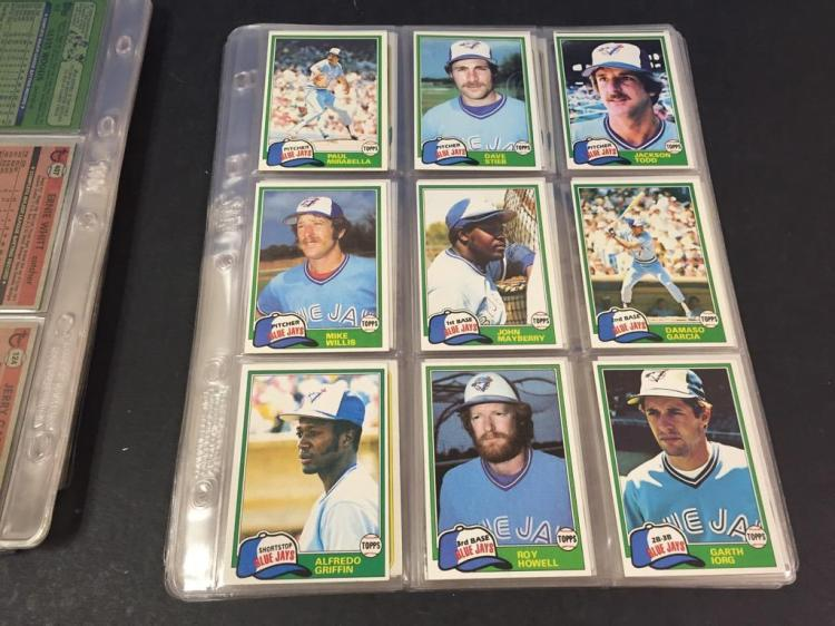1970s 80s Topps Toronto Blue Jays Baseball Card Collection