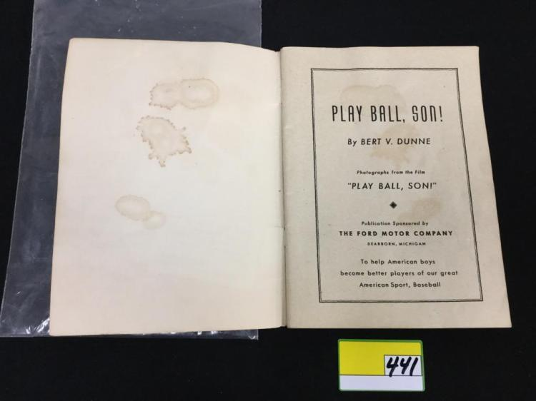 1947 ford motor company play ball son book. Black Bedroom Furniture Sets. Home Design Ideas
