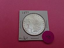 1891 Morgan Dollar MS62!