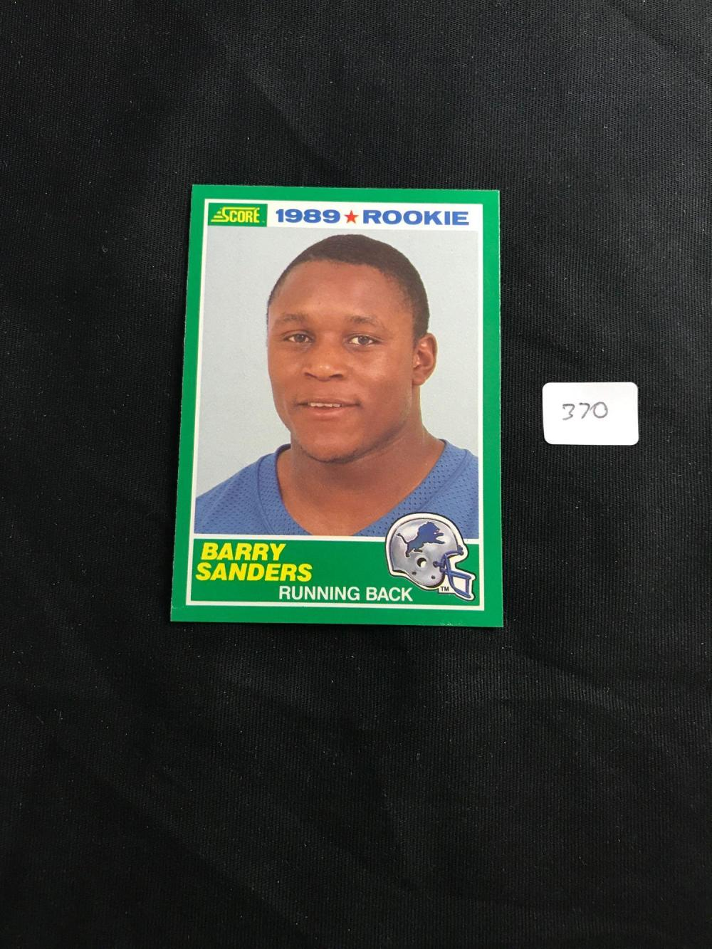 1989 Score Barry Sanders Rc