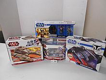 Star Wars(Clone Wars) Vehicles and Evolutions Figures N.I.B. for one money