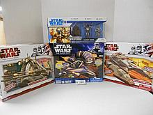 Star Wars (Clone Wars) Vehicle and Evolutions figures N.I.B. for one money