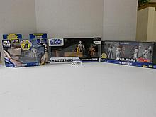 (3) Star Wars Action sets w/ Vehicle N.I.B. for one money