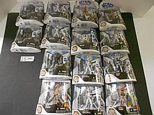 (14) Star Wars (Clone Wars) figures N.I.B. for one money