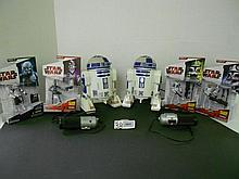 (6) Star Wars(Clone Wars) figures N.I.B. and (2) R2D2 Remote Controlled figures for one money