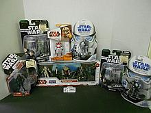(7) Star Wars Figures and Figure pack N.I.B. for one money