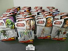 (29) Star Wars(Clone Wars) figures N.I.B. for one money