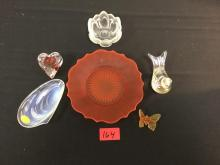 6 Count VINTAGE ART GLASS PIECES, These are some nice additions to any collection