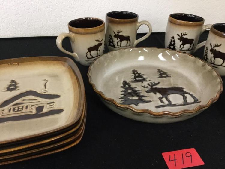 lot 419 vintage woodland home studio dinnerware odd lot consisting