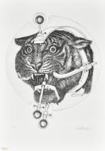 Valeriano Trubbiani SENZA TITOLO incisione su carta, cm 50x35 (lastra cm 34x28) esemplare prova d'autore sul fronte: firma e data eseguita nel 1976