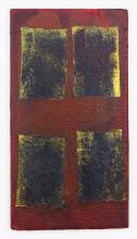 Remo Bianco TABLEAUX DORES olio su tavoletta, cm 19x10 sul retro: autentica dell