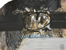 Tino Vaglieri SENZA TITOLO tecnica mista su carta, cm 19,4x2