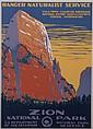 Poster, Ranger Naturalist Service , Zion National Park