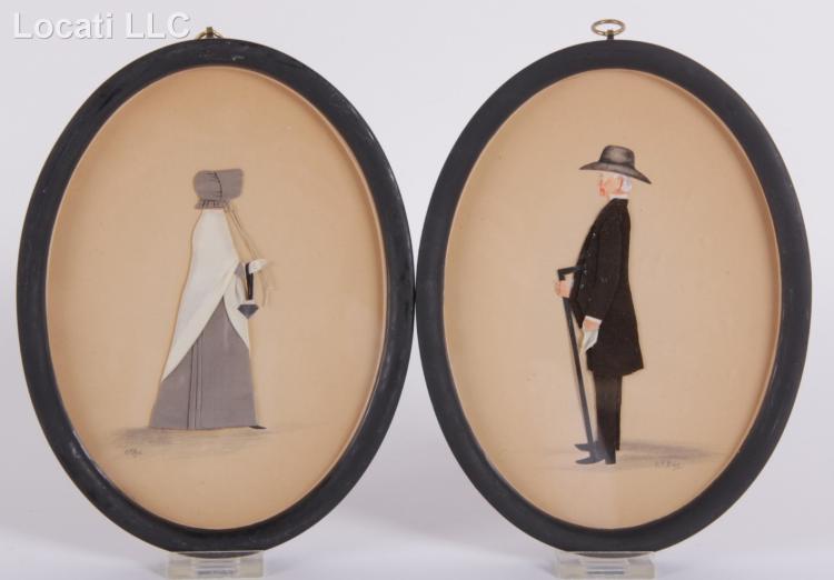 Rosalie P. Bye (American, 1853-1949) Folk Art Portraits