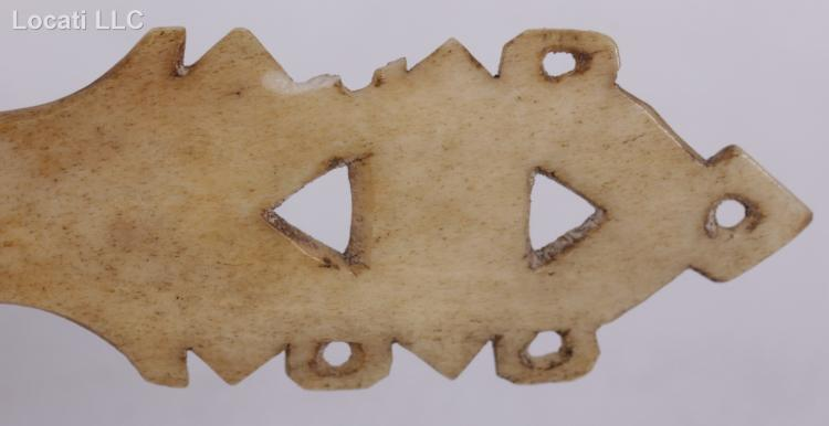 An Inuit Carved Bone Spoon