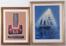 Josef Farhi, (French, Israeli, 20th Century) Two Color Lithographs