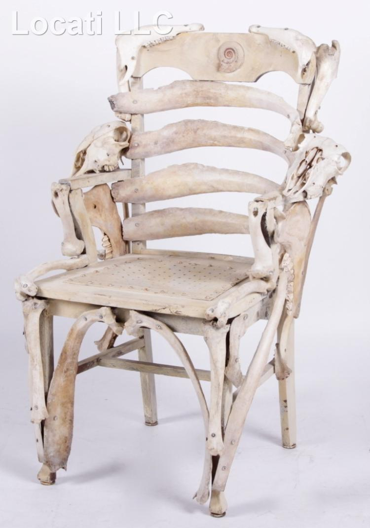 A found object animal bone chair for Found furniture