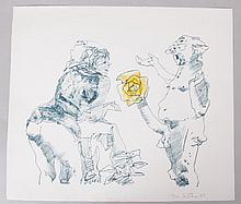 John Altoon (American, 1925 - 1969) Lithograph