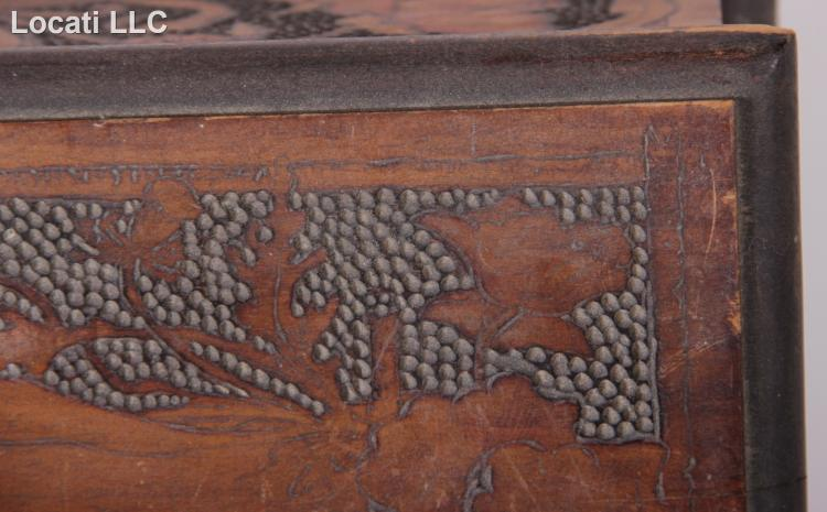 A german chip carved sewing box