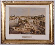 Julius Bien (AMERICAN, 1826-1909) Chromolithograph of Fairmount Park